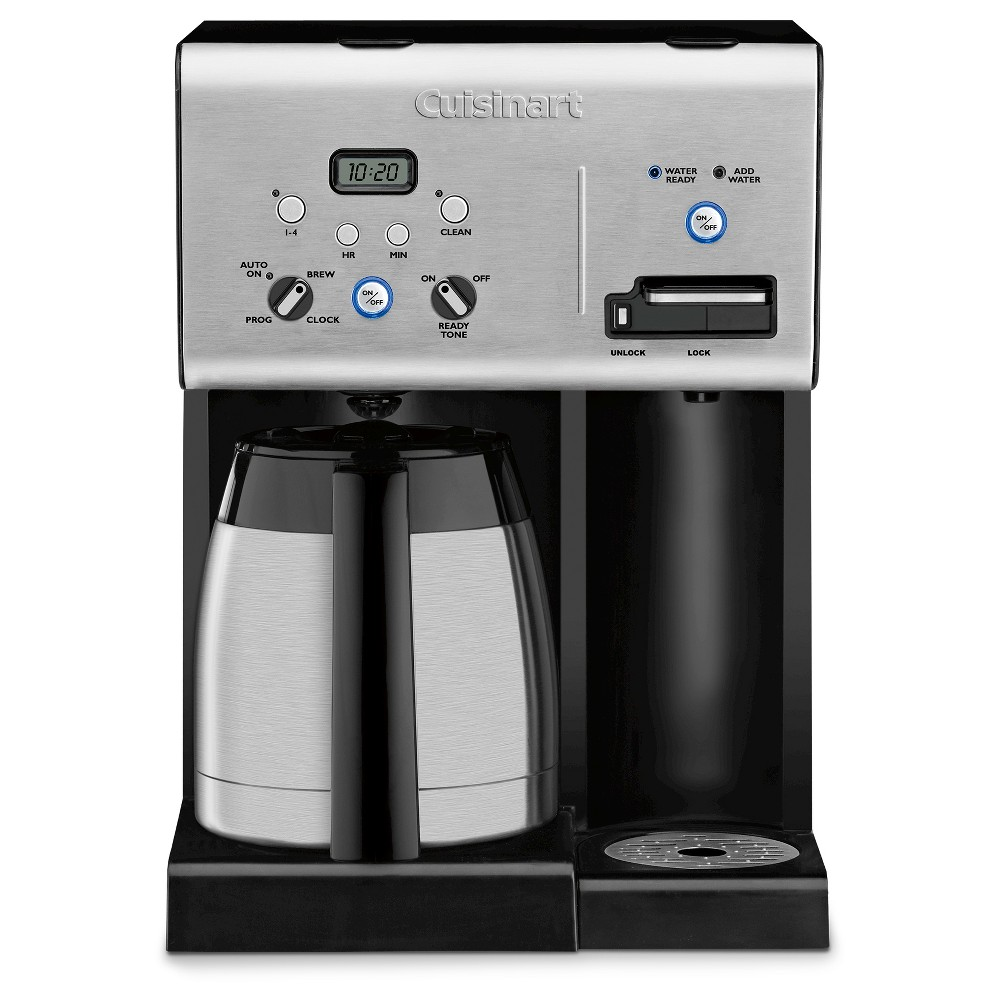Image of Cuisinart 10 Cup Programmable Coffee Maker & Hot Water System - Stainless Steel CHW-14, Black Silver