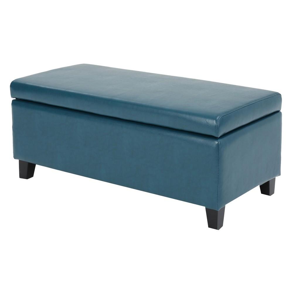Breanna Storage Ottoman - Teal (Blue) - Christopher Knight Home