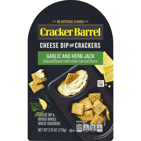 Cracker Barrel Garlic Herb Jack Cheese Dip And Crackers - 2.75oz - image 1 of 3