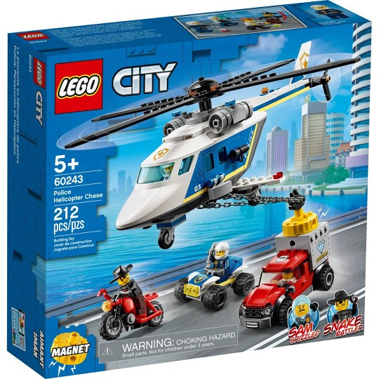 LEGO City Police Helicopter Chase 60243 Building Sets for Kids image number null