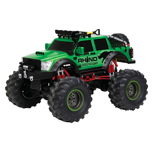 New Bright 1:12 Full Function R/C Rhino 4x4, Green - image 1 of 2