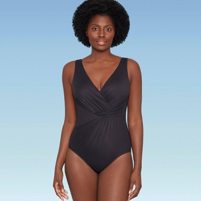 Women's Slimming Control Twist-Front One Piece Swimsuit - Dreamsuit by Miracle Brands