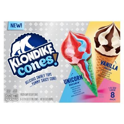 Klondike Frozen Dessert with Unicorn Dreamin' & Vanilla Chillin' Cones – 30oz/8ct