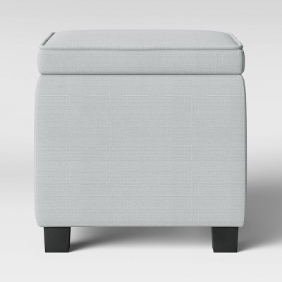 Storage Ottoman with Tray Table Light Gray - Room Essentials™