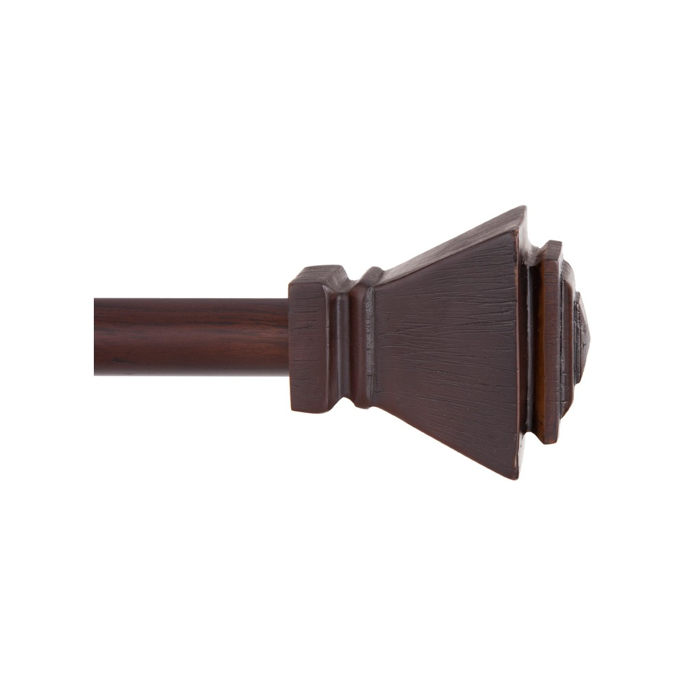 """Image of """"5/8"""""""" Iverson Standard Decorative Window Curtain Rod - Kenney, Size: 90-130"""""""", Brown"""""""