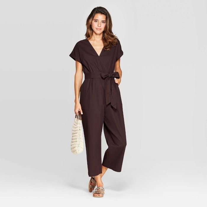Women's Short Sleeve V-Neck Jumpsuit - Universal Thread™ - image 1 of 3