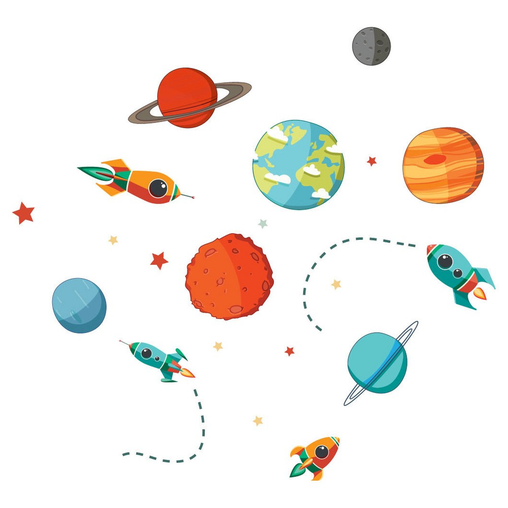 Image of Planets Galore Wall Decal