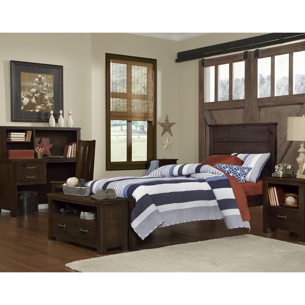 Twin Highlands Alex Panel Bed Espresso Hillsdale Furniture