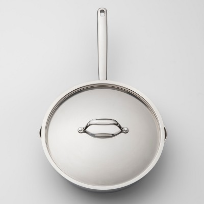 Stainless Steel Sauté Pan with Lid 10'' - Made By Design™