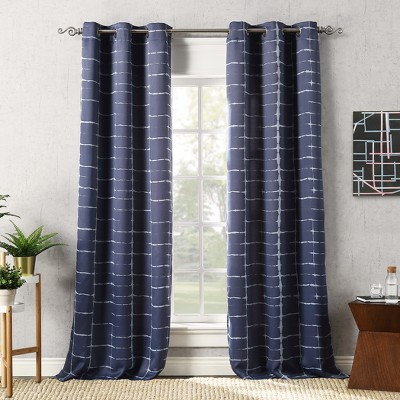 Saki Shibori Print Blackout Grommet Curtain Panel - Sun Zero