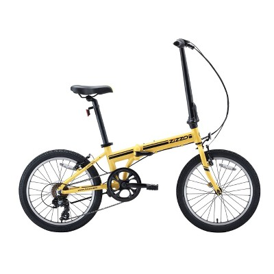 "ZiZZO Campo 7-Speed Aluminum 20"" Folding Bike - Yellow"