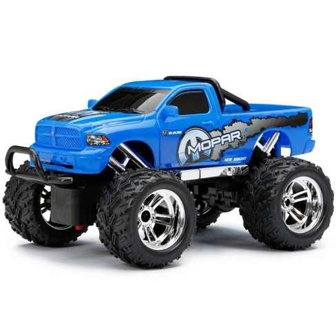 New Bright Remote Control RC FF Chargers Ram Truck - Blue - 1:18 Scale - image 1 of 4