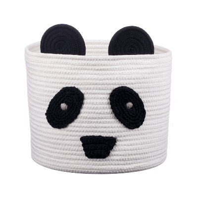 Coiled Rope Storage Bin Large Panda - Cloud Island™
