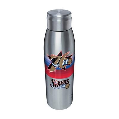NBA Philadelphia 76ers 17oz Retro Stripe Stainless Water Bottle