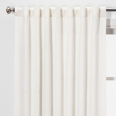 Honeycomb Light Filtering Curtain Panel White - Threshold™
