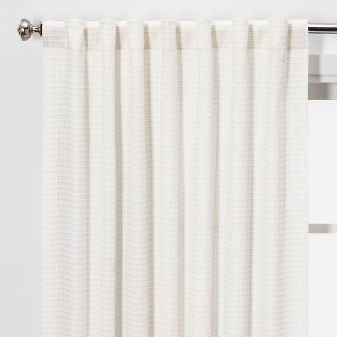 Honeycomb Light Filtering Curtain Panel White - Threshold™ - image 1 of 4