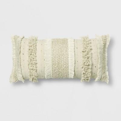 Tufted Oversize Lumbar Throw Pillow Cream - Opalhouse™