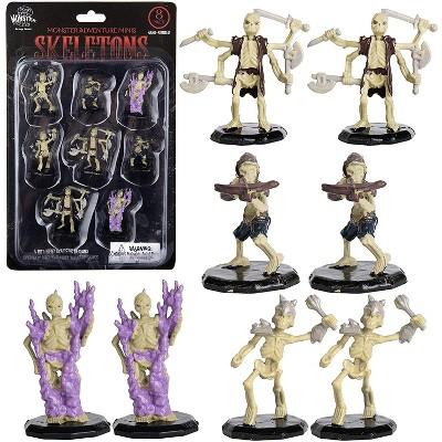 "Monster Protectors Painted Fantasy Skeleton Mini Figures for D&D - 1"", 8 Pieces"