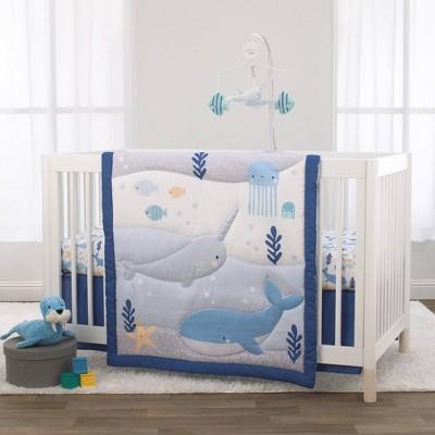 Little Love By Nojo Underwater Adventure Crib Bedding Set - 3pc