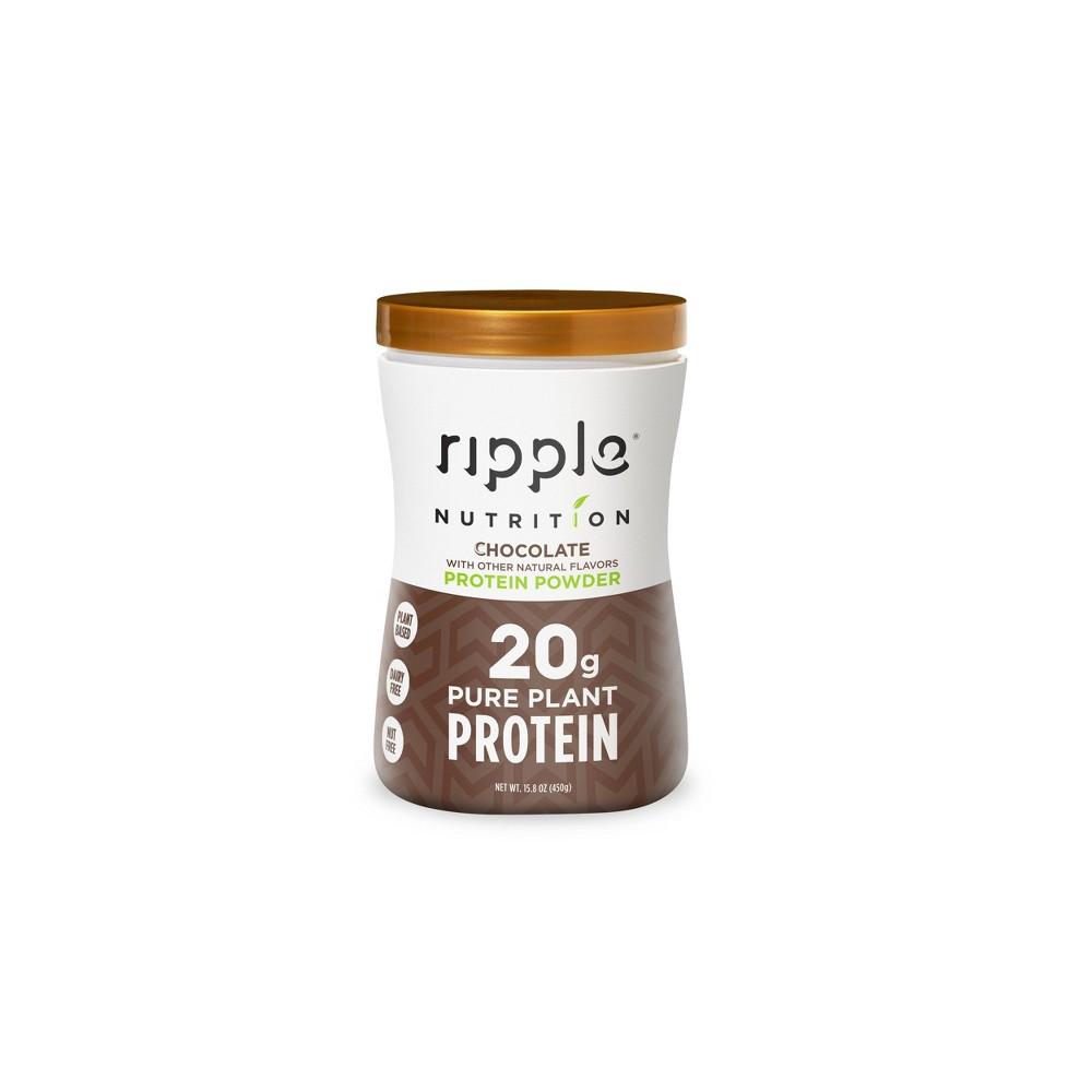 Ripple Vegan Protein Powder Chocolate 15 8oz