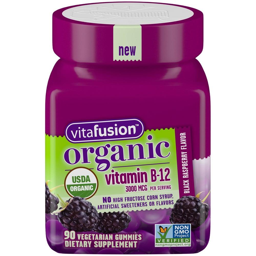 Vitafusion Organic Vitamin B12 Gummies - Berry - 90ct