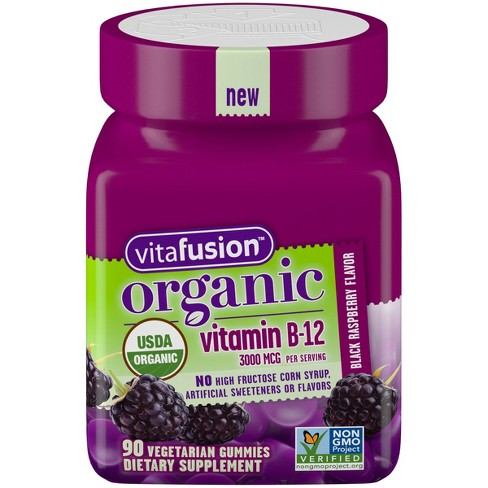 Vitafusion Organic Vitamin B12 Gummies - Berry - 90ct - image 1 of 3