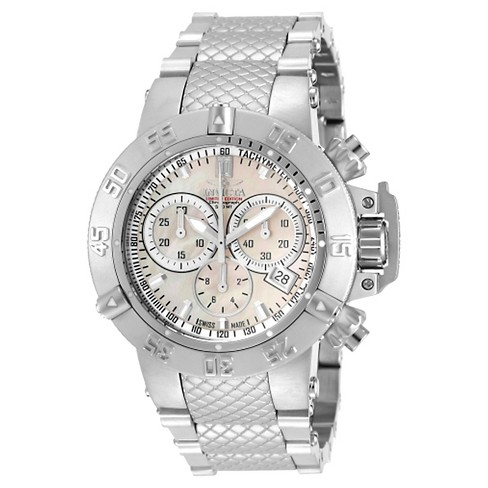 Women's Invicta 14598 Jason Taylor Quartz Chronograph White Dial Link Watch - Silver - image 1 of 1
