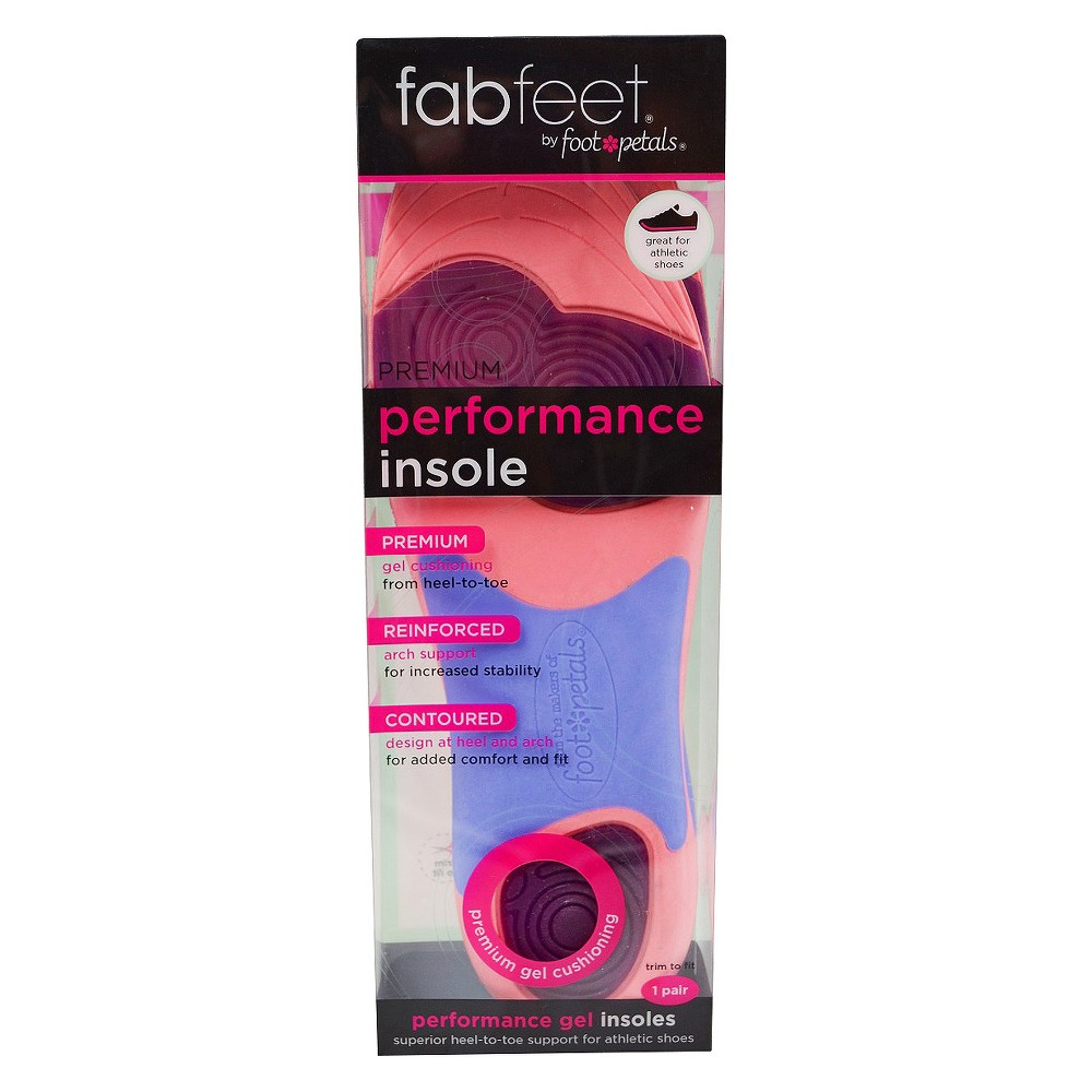 Women's Fab Feet Performance Gel Insole Pink/Purple - 1 pair