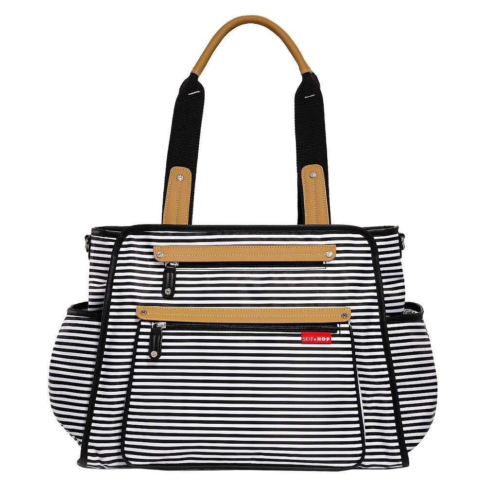 Skip Hop Grand Central Take-It-All Diaper Bag Black & White Stripe