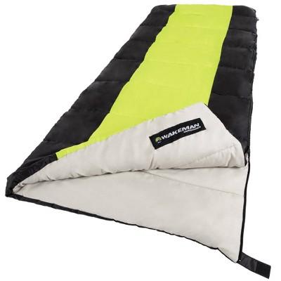 Wakeman 2-Season 50 Degrees Fahrenheit Adult Sleeping Bags - Neon Green