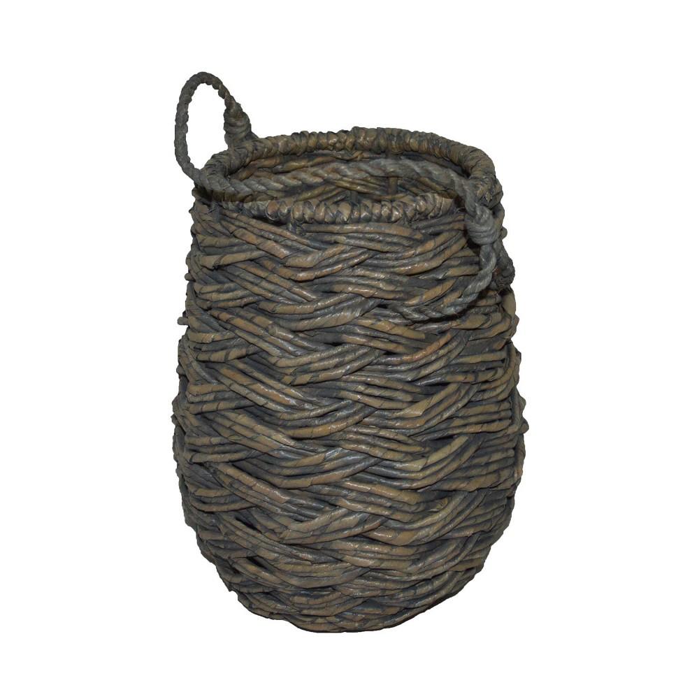 Mini Round Decorative Basket Gray 11.25