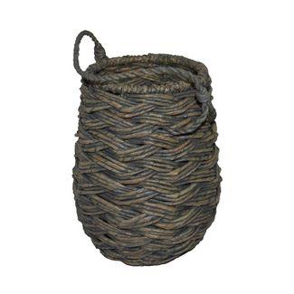 Mini Round Decorative Basket Gray 11.25u0022x8.75u0022 - Threshold™
