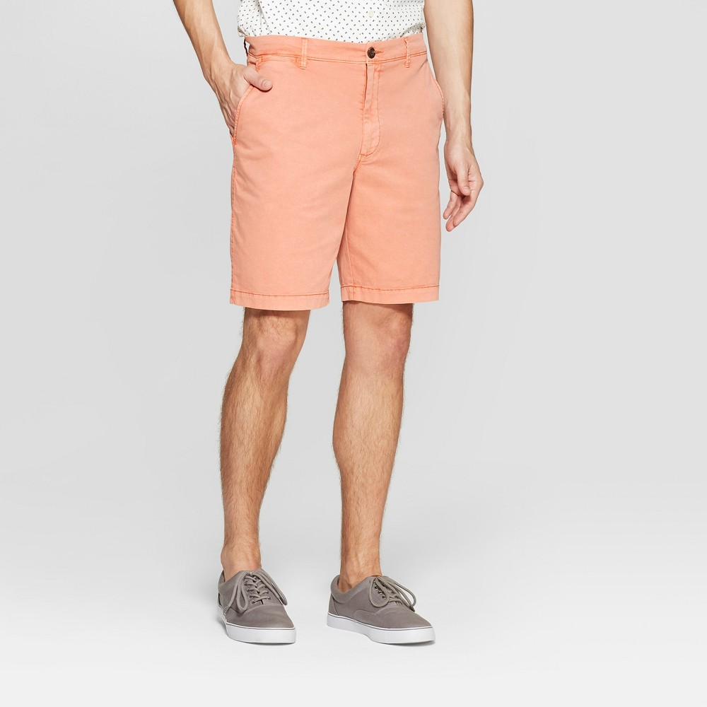 Men's 9 Pigment Chino Shorts - Goodfellow & Co Bengal Ginger Opaque 32