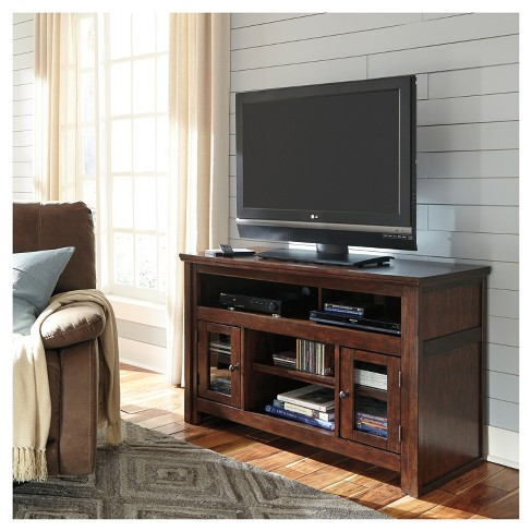 Harpan Reddish Brown Medium Tv Stand Signature Design By Ashley