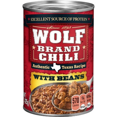 Wolf Brand Chili with Beans 15oz