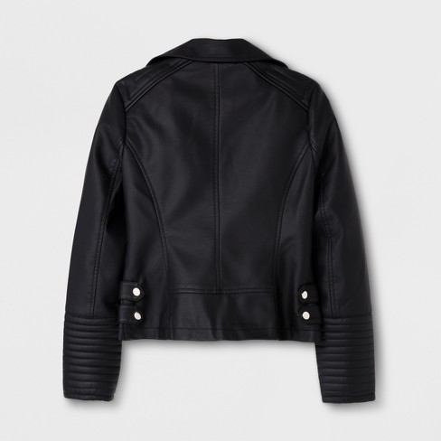 005130a57887 Girls  Moto Outerwear Jackets - Art Class™ Black   Target