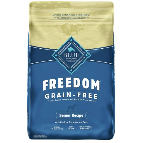 Blue Buffalo Freedom Grain Free with Chicken, Potatoes & Peas Senior Dry Dog Food - image 1 of 4