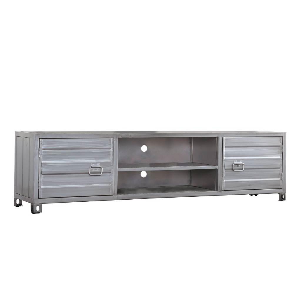 TV Stand Silver Gray - Homes: Inside + Out