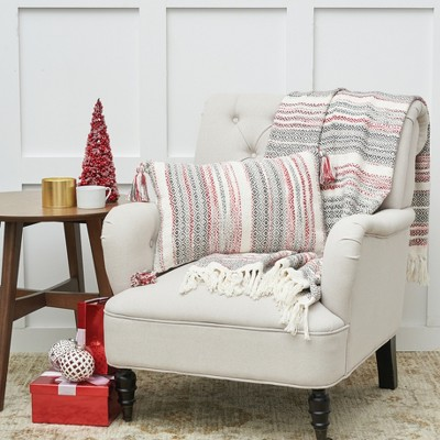 """C&F Home Cozy Nordic Christmas Red and Gray 50"""" x 60"""" Throw Blanket"""