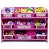 9 Bin Disney Minnie Mouse Plastic Toy Organizer - Delta Children - image 3 of 4