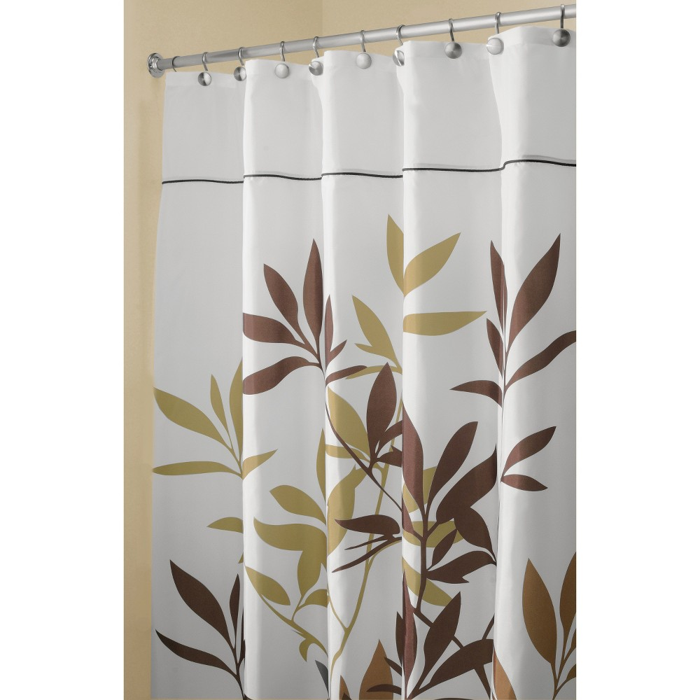 """Image of """"54""""""""x78"""""""" Leaves Shower Curtain Brown/Taupe - InterDesign"""""""