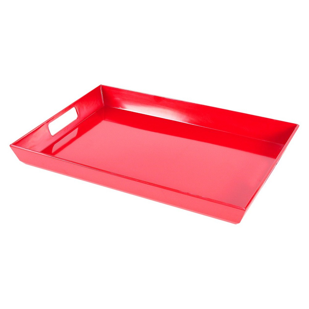 "Image of ""Red Serving Tray 13.5""""X19"""" - Room Essentials"""