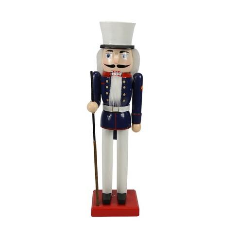 Christmas Nutcracker.Northlight 14 Decorative Wooden Christmas Nutcracker Soldier In Dress Blues