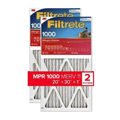 Filtrete 20x30x1 2pk Allergen Defense Air Filter 1000 MPR