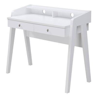 Newport Deluxe 2 Drawer Desk White - Breighton Home