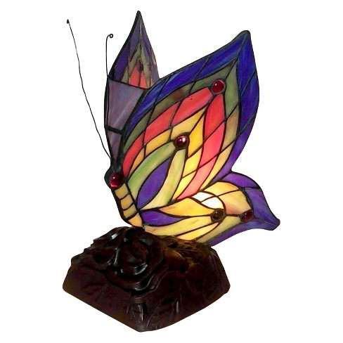Tiffany Style Yellow Butterfly Accent Lamp - image 1 of 1