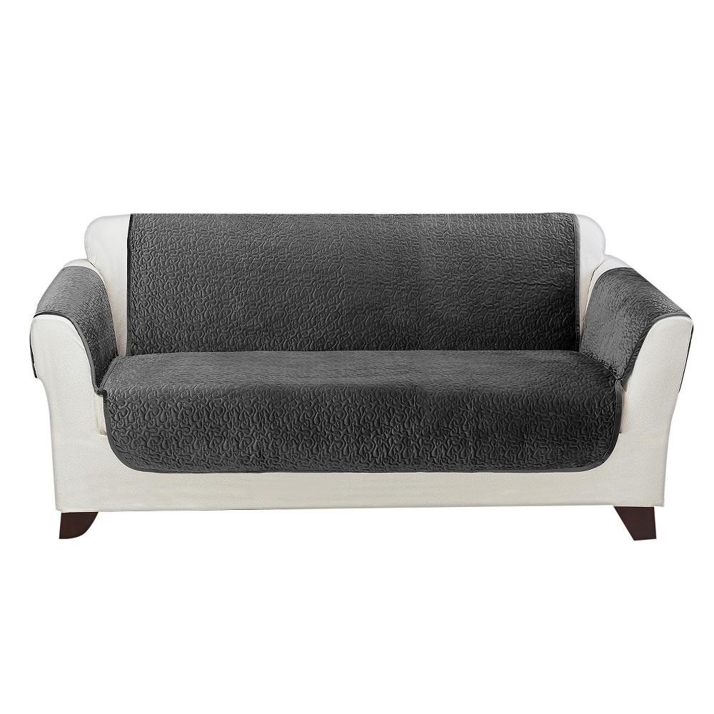 Stupendous Elegant Vermicelli Loveseat Furniture Cover Gunmetal Grey Machost Co Dining Chair Design Ideas Machostcouk