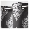 Set of 2 / Pair Medallion Blackout Thermal Grommet Top Window Curtain Panels Exclusive Home - image 2 of 4