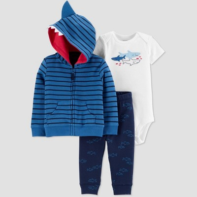 Baby Boys' Sharks Top & Bottom Set - Just One You® made by carter's Blue 6M