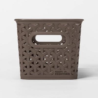 5 x6  Y-Weave Medium Rectangle Decorative Bin Dark Gray - Room Essentials™